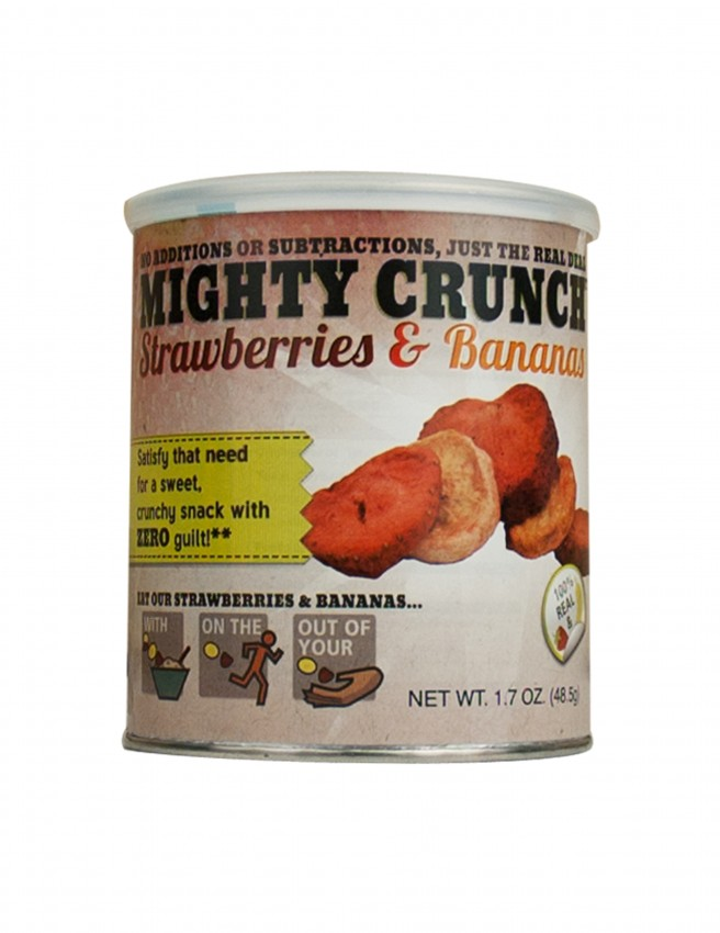 Mighty Crunch Strawberry Banana slices